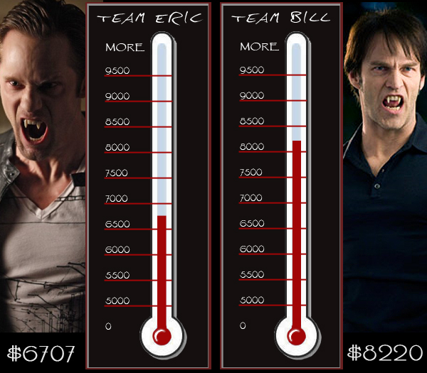 true blood bill fangs. True Blood Eric Vs Bill